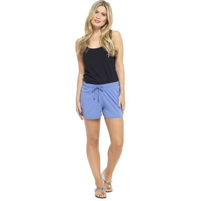 Ladies Summer Beach Shorts - Blue