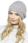 Grey Ladies Knitted Hat