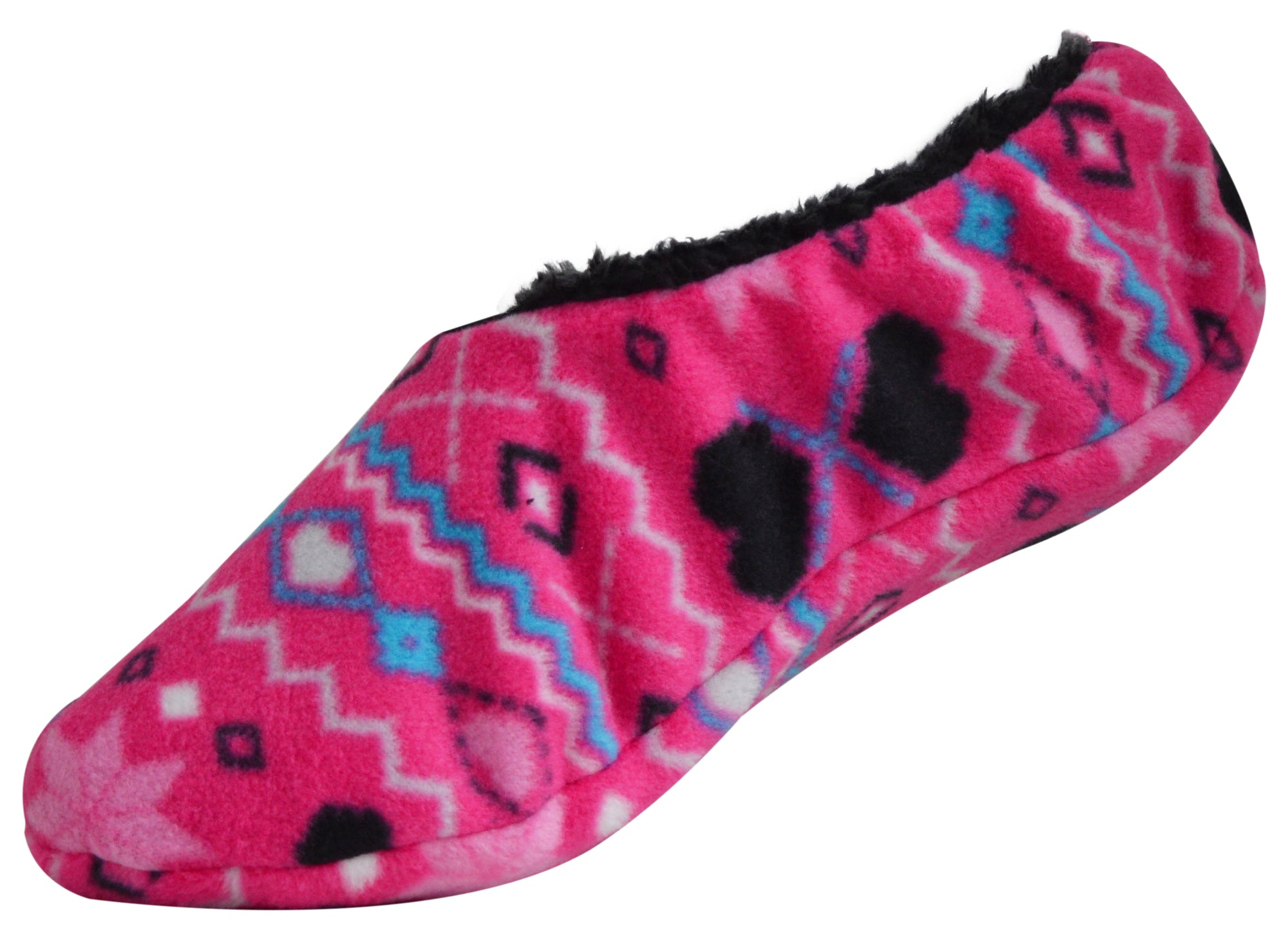 OCTAVE® Ladies Micro Fleece Slippers Soft Warm and Cosy Black or Pink