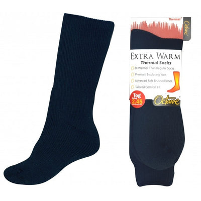 Octave® Mens Extra Warm Thermal Socks 2.45 Tog - Navy