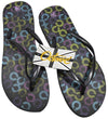OCTAVE Ladies Summer Beach Wear Flip Flops - Links Design