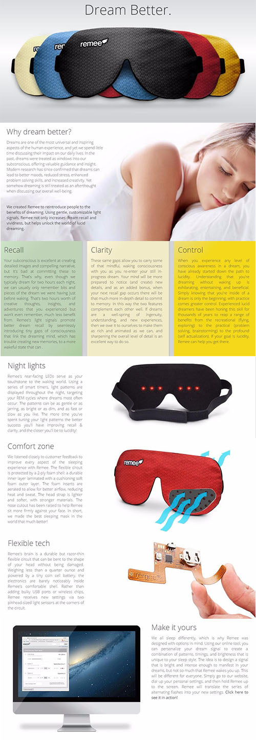 How To Lucid Dream? With Remee The Lucid Dream Inducing Mask!
