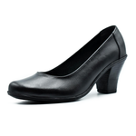 high heels shoes/ genuine leather 100 %/ black -6906