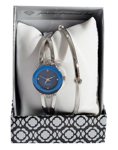 silver bacelet and watch set -1372