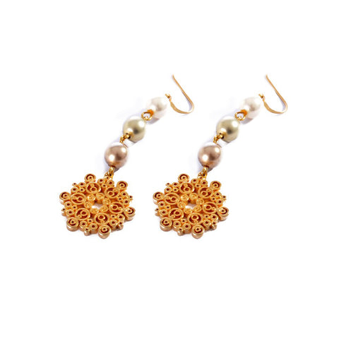 Earrings color Gold -707