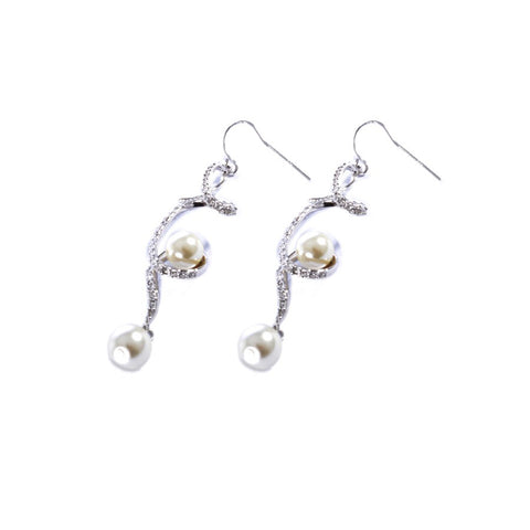 Earrings color silver  -745
