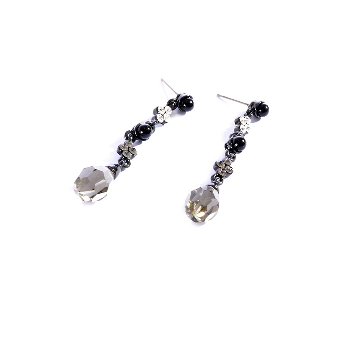 Earrings color silver & Black -747