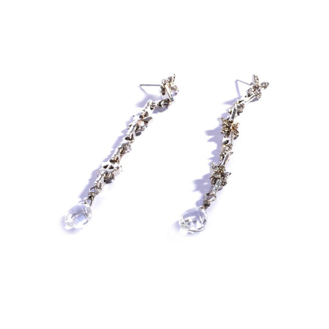 Earrings color silver  -725