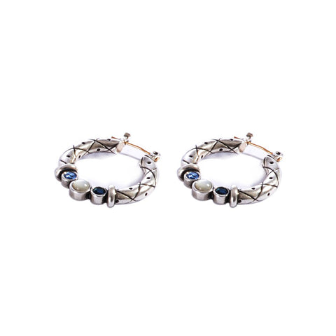 Earrings color silver  -743