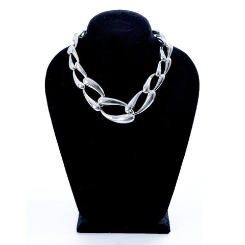 silver necklace  -805
