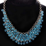 blue necklace  -807