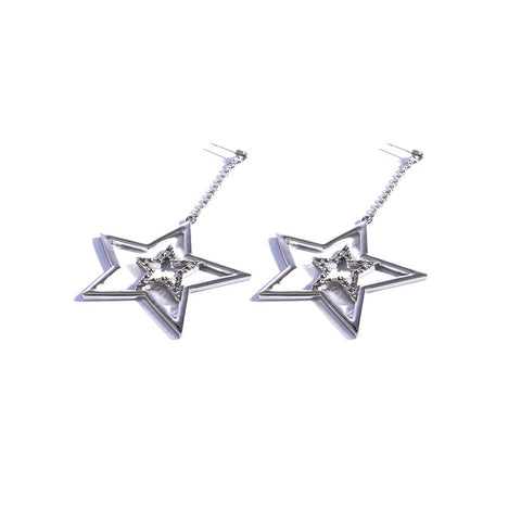 Earrings color silver  -720