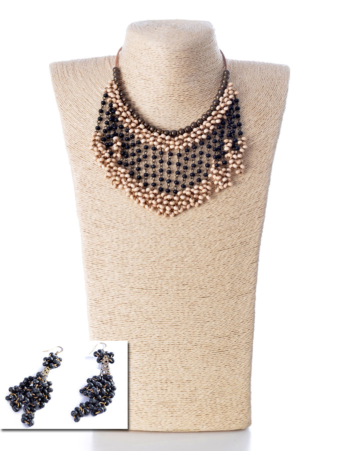 NECKLACE AND EARRINGS SET -1552