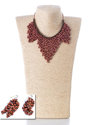 NECKLACE AND EARRINGS SET -1853