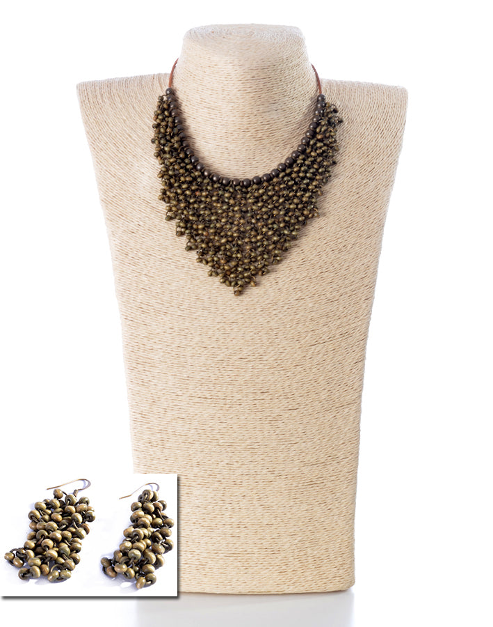NECKLACE AND EARRINGS SET -1854