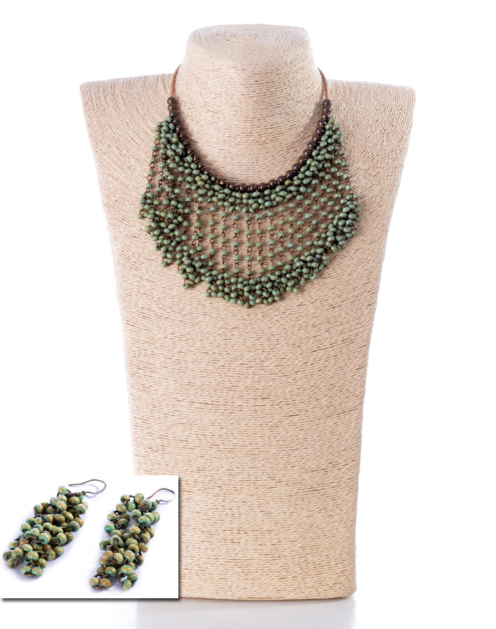 NECKLACE AND EARRINGS SET -1855