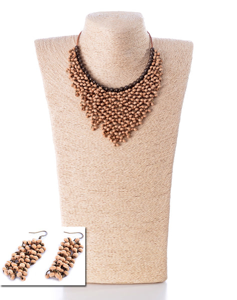 NECKLACE AND EARRINGS SET -1856