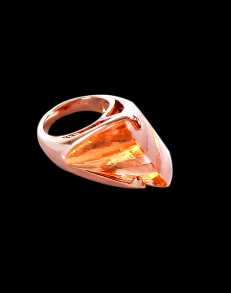 Golden rose colored ring  -46