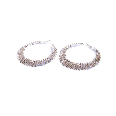 Earrings color silver -111