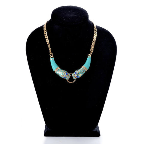 Necklaces Color  Gold & turquoise -103