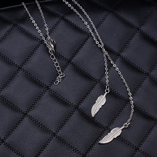 Necklace color silver -3619