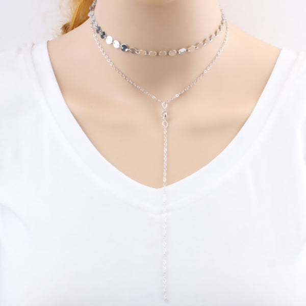 Necklace color silver 3621