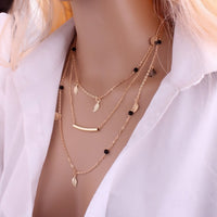 Necklace color gold -3622