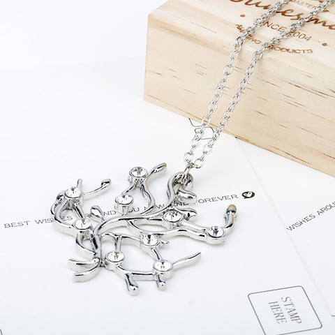 Necklace color silver -3617