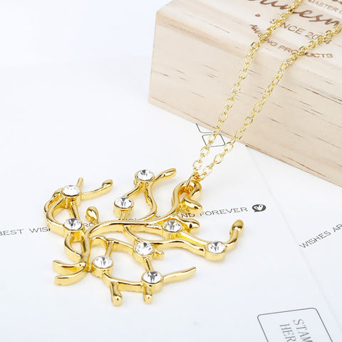 Necklace color gold - -3618