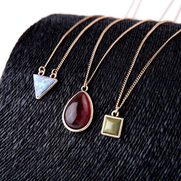 Necklace color gold -3624