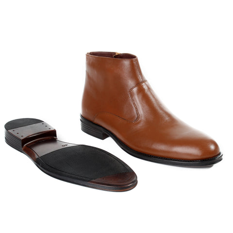 Formal winter shoes /  100% genuine leather -honey -6203
