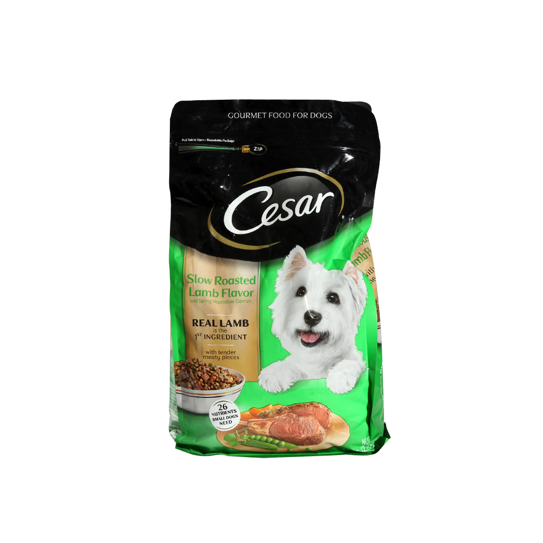 Cesar Slow Roasted Lamb Flavor With Spring Vegetables Garnish Dry Small Dog Food -3712