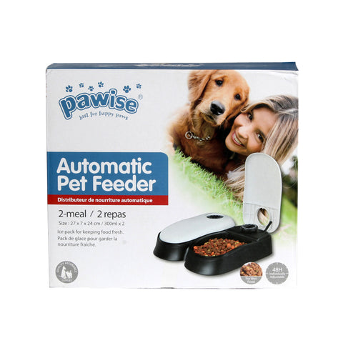 PAWISE AUTO Feeder Dog Pet Dispenser Food Bowl Cat 2 Meal Timer With Cool Pads -3716