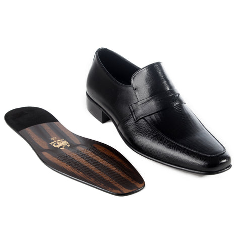 Formal  shoes /  100% genuine leather -black -6174