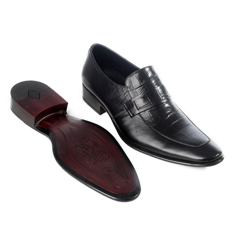 Formal  shoes /  100% genuine leather -black -6178