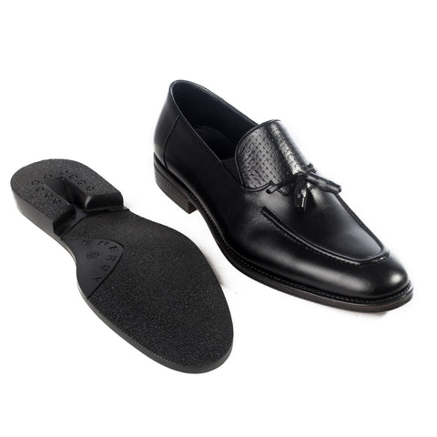 Formal  shoes /  100% genuine leather -black -6179