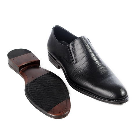 Formal  shoes /  100% genuine leather -black -6181