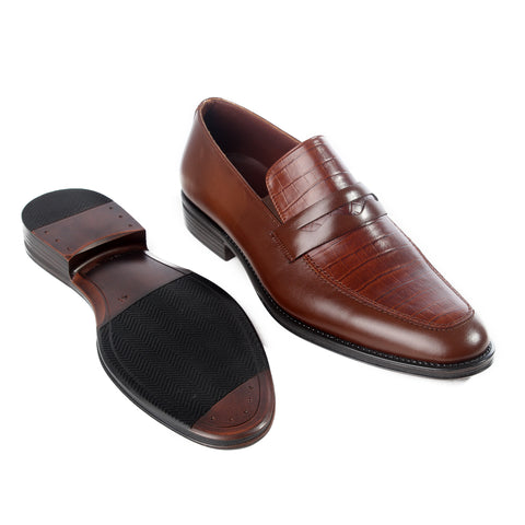 Formal  shoes /  100% genuine leather -brown -6194