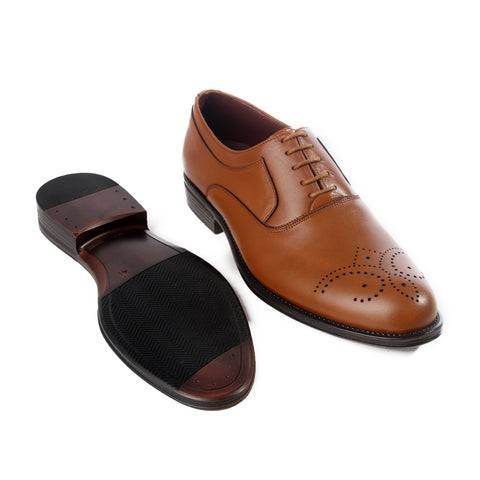 Formal  shoes /  100% genuine leather - honey -6202