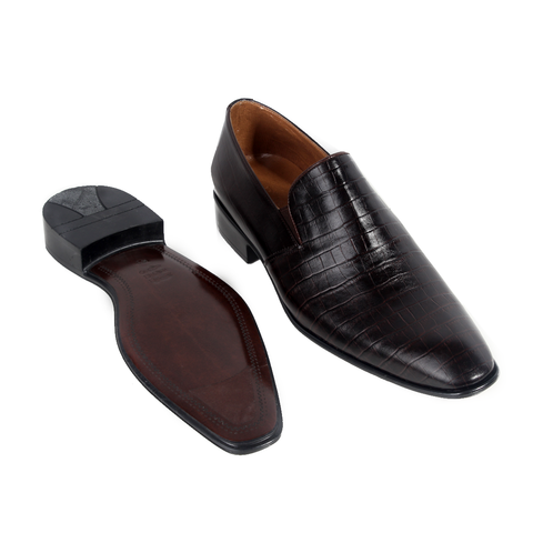 Formal  shoes /  100% genuine leather -brown -6322
