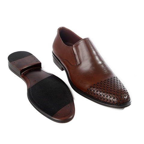 Formal  shoes /  100% genuine leather -brown -6198