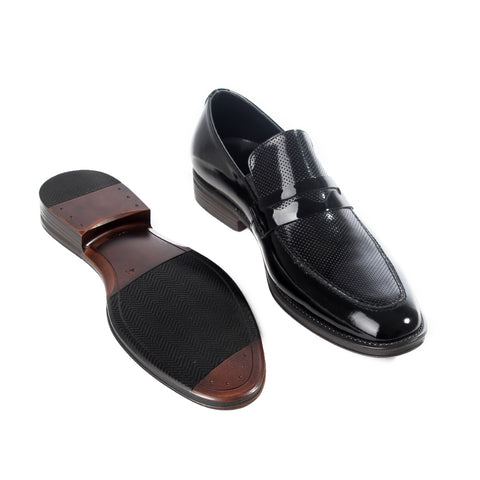 Formal  shoes /  100% genuine leather -black -6184