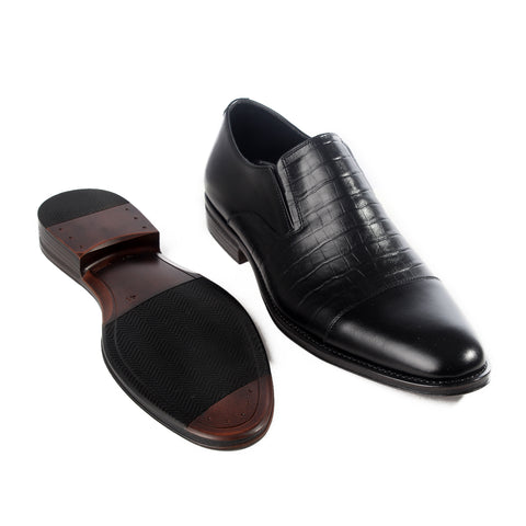 Formal  shoes /  100% genuine leather -black -6186