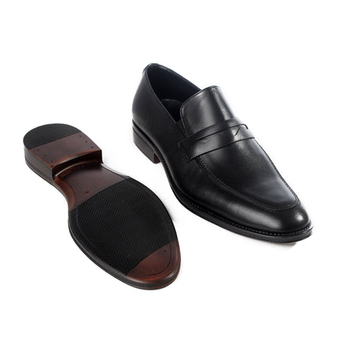 Formal  shoes /  100% genuine leather -black -6187