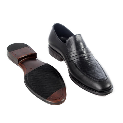 Formal  shoes /  100% genuine leather -black -6188