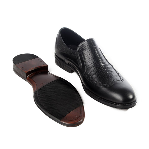 Formal  shoes /  100% genuine leather -black -6190