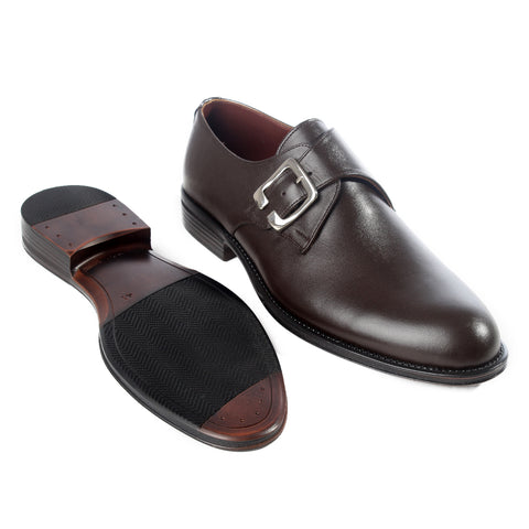 Formal  shoes /  100% genuine leather -brown -6199