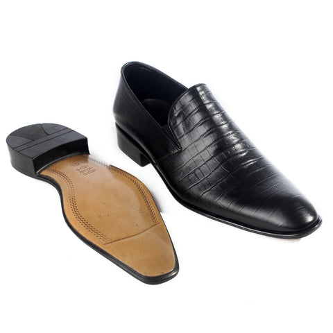 Formal  shoes /  100% genuine leather -black -6208