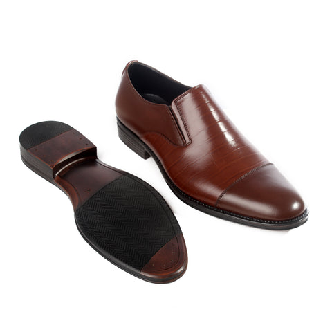 Formal  shoes /  100% genuine leather -brown -6215