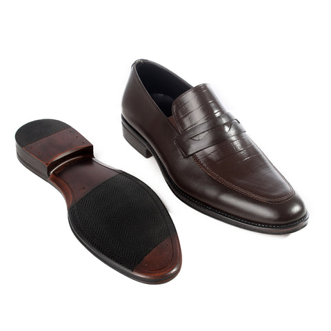 Formal  shoes /  100% genuine leather -brown -6216